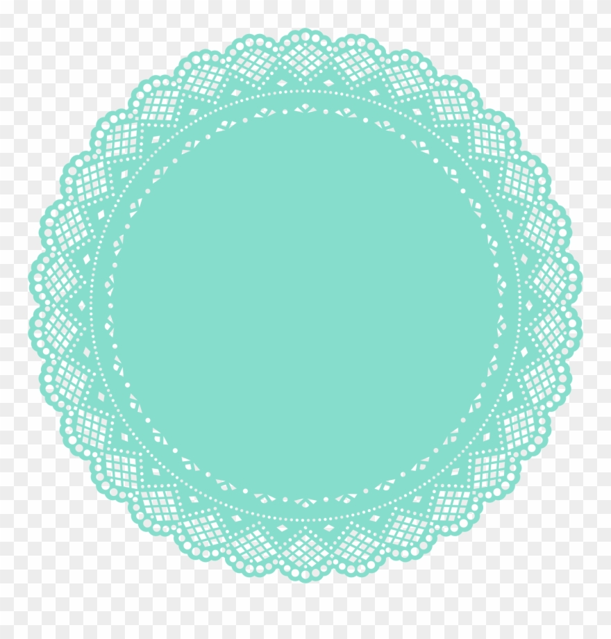 Free doily clipart clipart transparent stock Round Frame, Painted Ornaments, Stencils, Artwork, - Free Doily ... clipart transparent stock