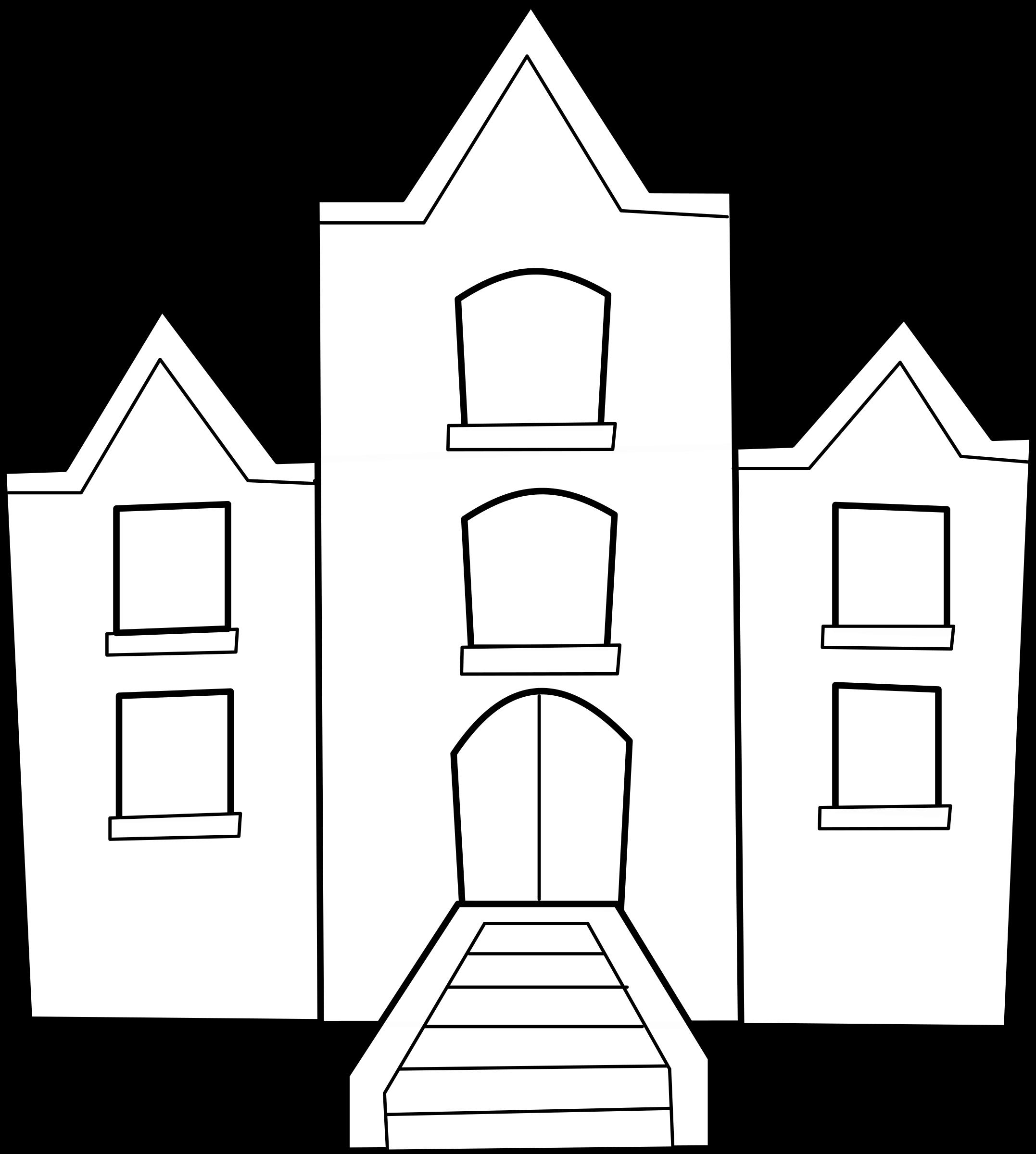 Free domain house outline clipart jpg royalty free library Clipart - Collège jpg royalty free library