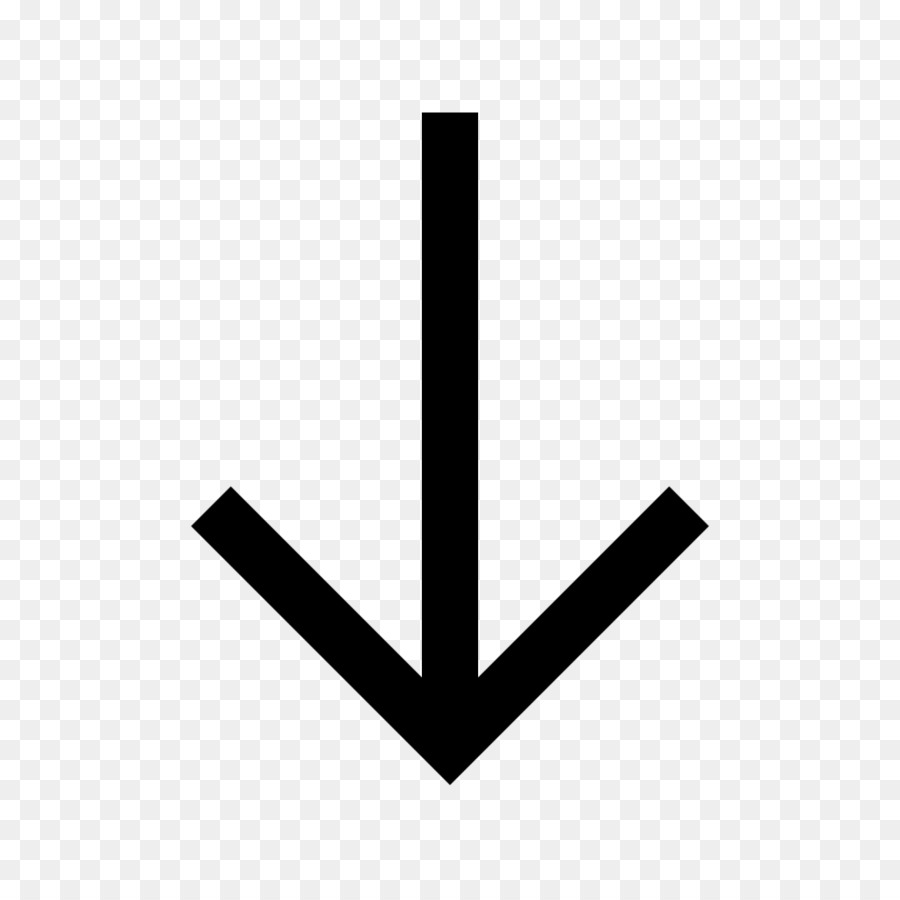 Free down arrow clipart. White background png download