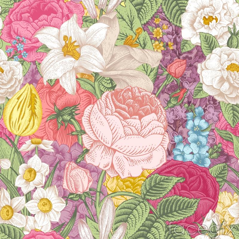 Free download flower background clip art Elegant vintage hand-painted floral background vector   Free download clip art