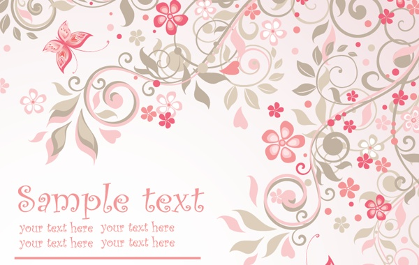 Free download flower background clipart black and white stock Pink Floral Background Vector Vector   Free Download clipart black and white stock