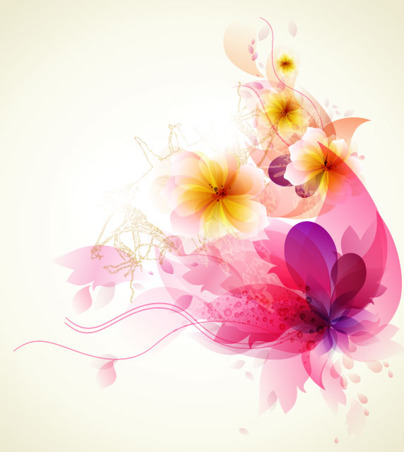 Free download flower background clip stock Shiny Colorful flower background vector 01 - Vector Background ... clip stock