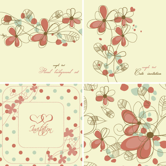Free download flower background clip library library Elegant floral background pattern vector | Download Free Vectors ... clip library library