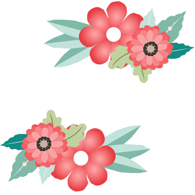 Flower arrow clipart. Border frame invitation png