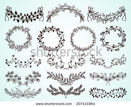 Free download flower border clip download Round vintage flower border vector Free vector for free download ... clip download