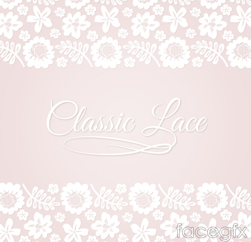 Free download flower border graphic transparent Asymmetric lace flower border vectors | Free download graphic transparent