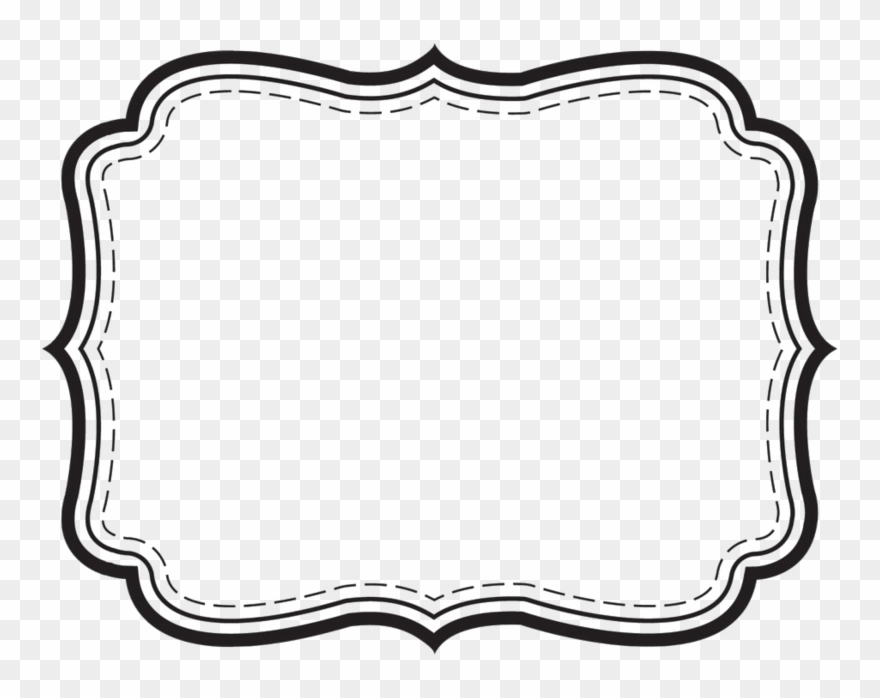Label png black and. Free download frame cliparts