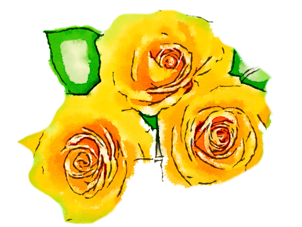 Free downloadable watercolor flower clipart clip library library FREE-yellow-flowers-png-usefreely-watercolor by anjelakbm on DeviantArt clip library library