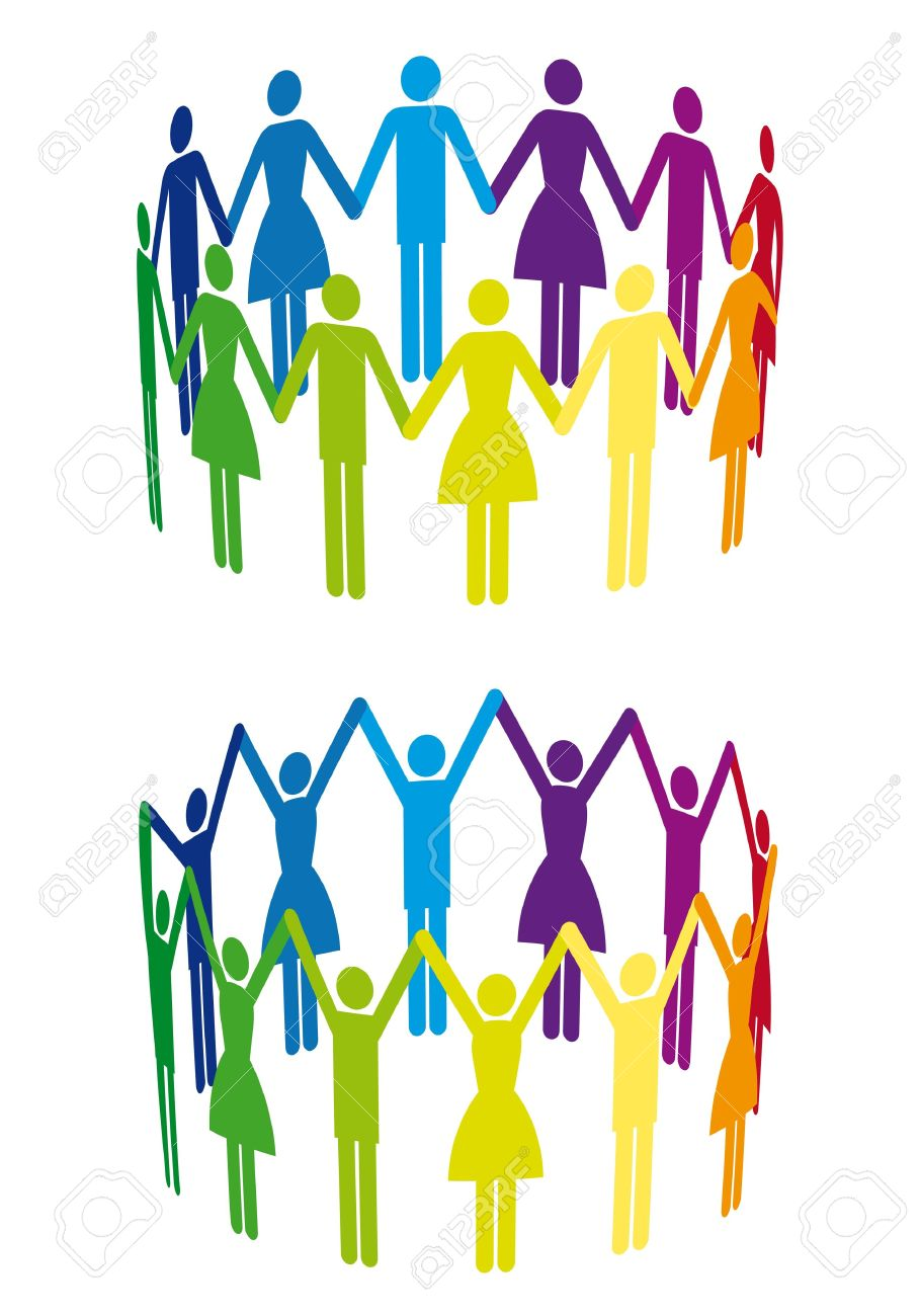 Free download stick people group holding hands clipart vector download Holding Hands In A Circle | Free download best Holding Hands In A ... vector download