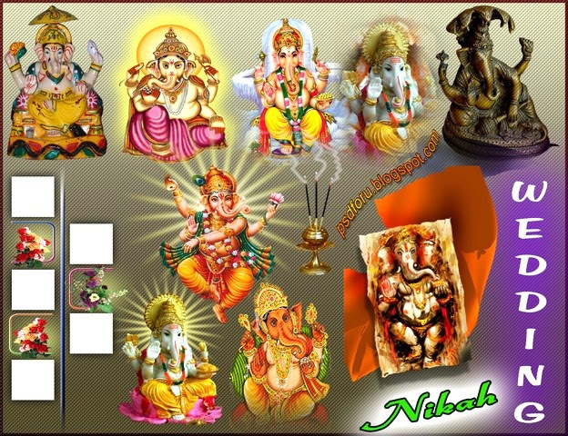Free download wedding cliparts for photoshop psd files. Clipart collection of ganesh