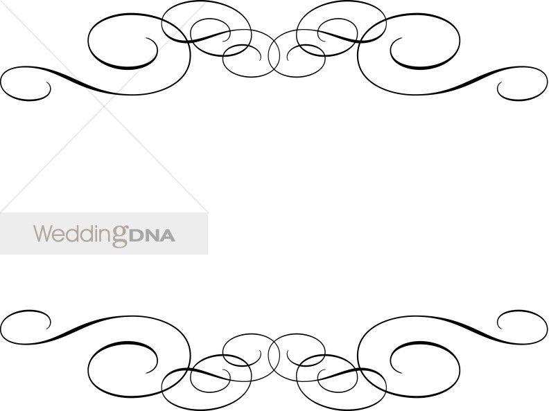 Wedding program borders clipart vector stock Free Wedding Flourishes and Swirls | traditional flourish invitation ... vector stock