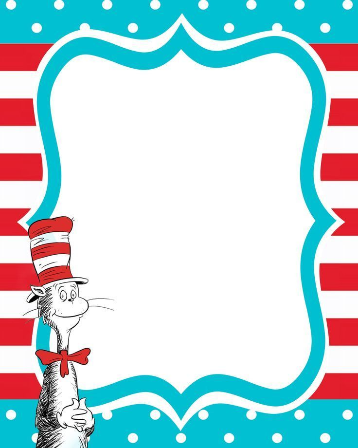 Free dr seuss border clipart banner free stock Free Printable Dr. Seuss Templates … | Prefect Printables | Dr se… banner free stock