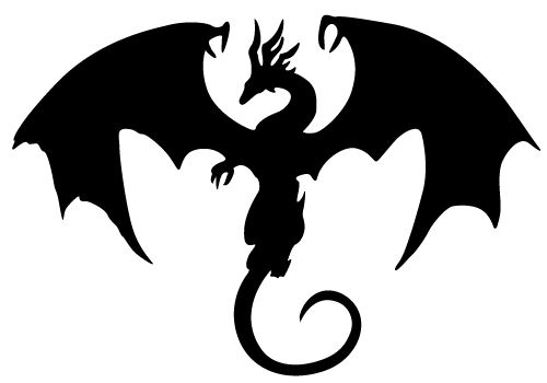 Clipart dragon outline vector free library Flying Dragon Silhouette | Clipart Panda - Free Clipart Images ... vector free library
