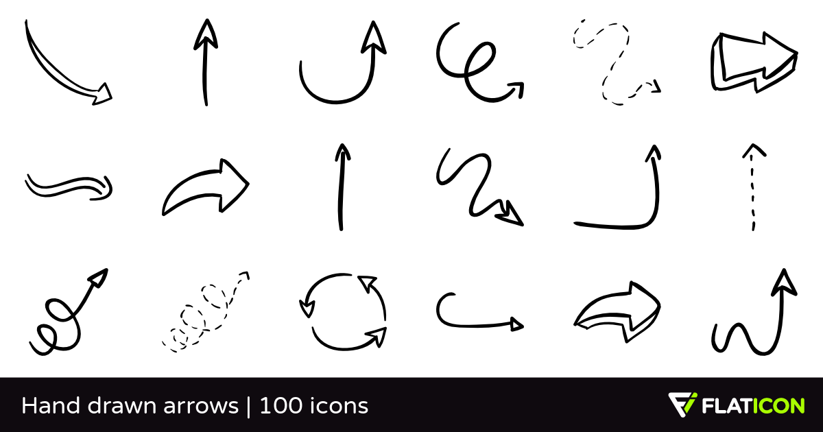 Free drawn arrow clipart clipart free Hand drawn arrows 100 free icons (SVG, EPS, PSD, PNG files) clipart free