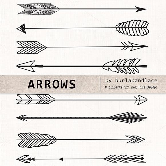 Free drawn arrow clipart clip stock Rustic Arrow Clipart - Clipart Kid clip stock