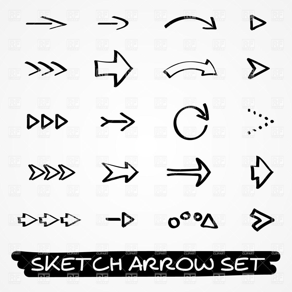 Free drawn arrow clipart vector library stock Free hand drawn arrow clip art - ClipartFest vector library stock