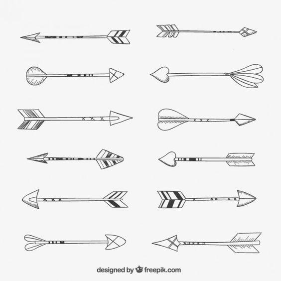 Free drawn arrow clipart clip black and white library Free vector Hand drawn arrows #2085 | Free Vector Arrows ... clip black and white library