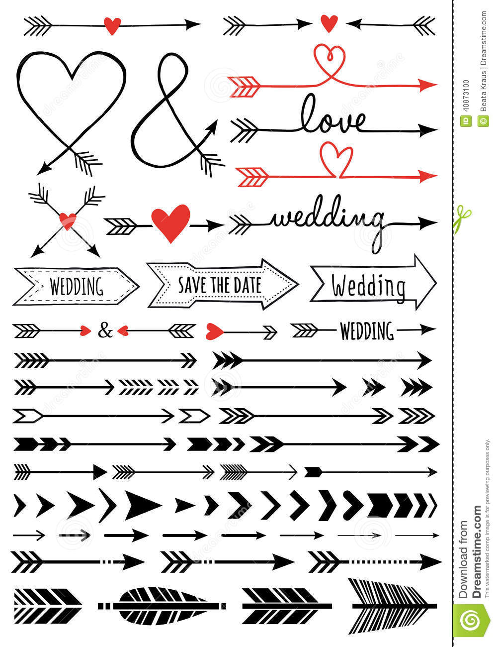 Free drawn arrow clipart banner library Hand-drawn Arrows, Set Stock Illustration - Image: 40873100 banner library