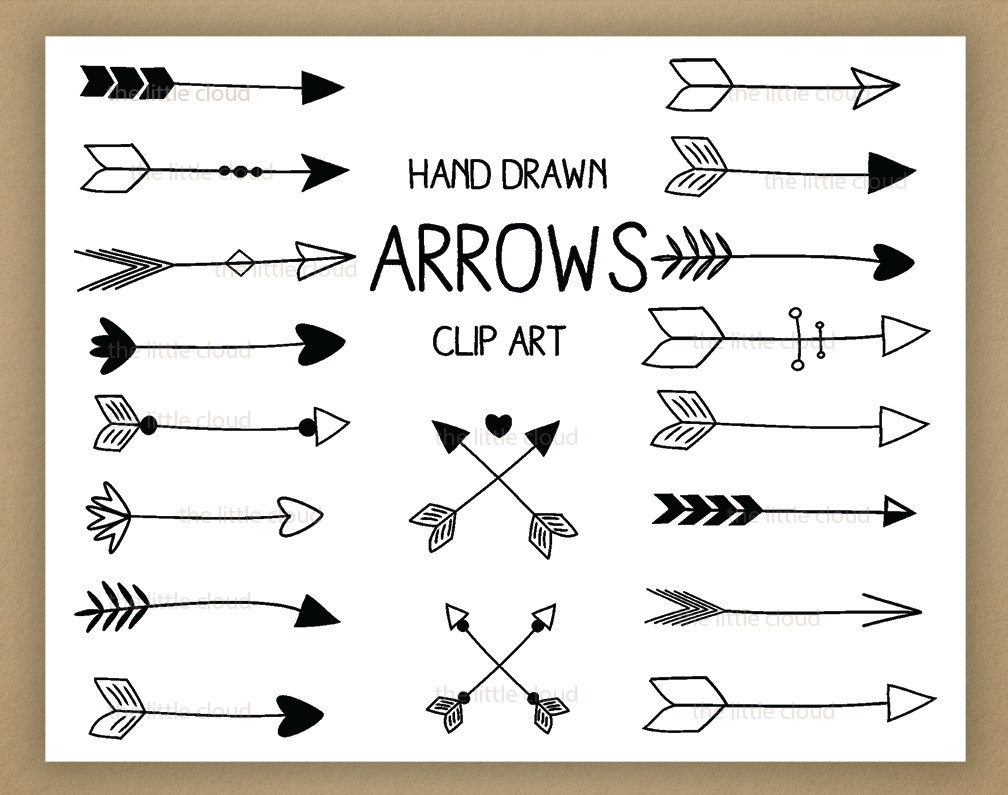 Free drawn arrow clipart image free library Hand Drawn Arrow Clipart - Clipart Kid image free library