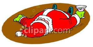 Free drunk santa clipart jpg stock Drunk Santa - Royalty Free Clipart Picture jpg stock