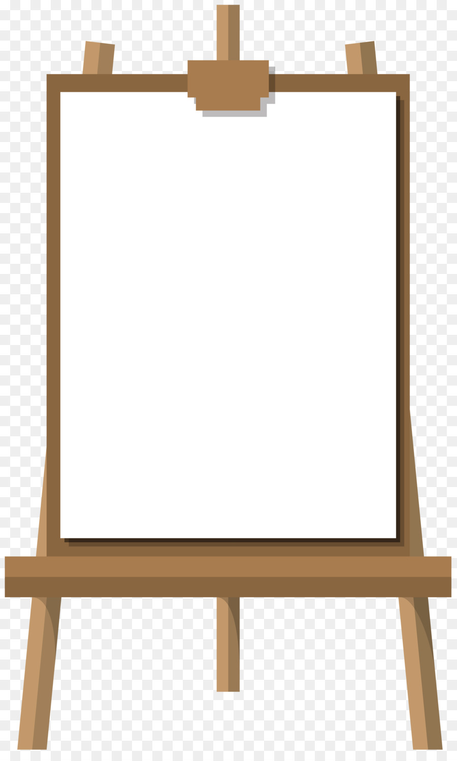 Free easel clipart clip art transparent download Wood Table Frame png download - 4852*8000 - Free Transparent Easel ... clip art transparent download