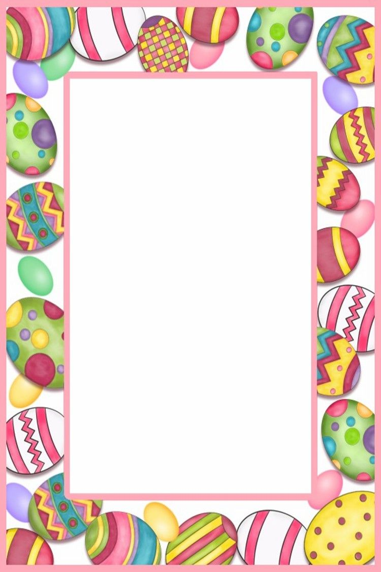 Free easter border clipart vector transparent library All you Need to Make Your Own Easter Cards & Page Borders ... vector transparent library