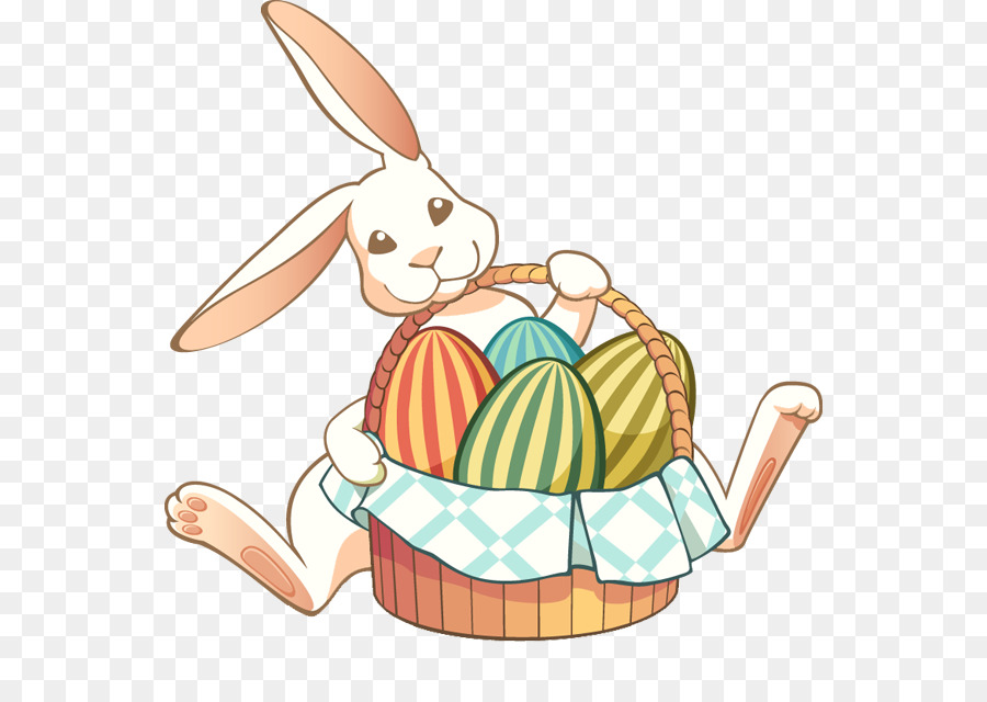 Free easter bunny clipart download svg black and white library Easter Egg Background png download - 600*625 - Free Transparent ... svg black and white library