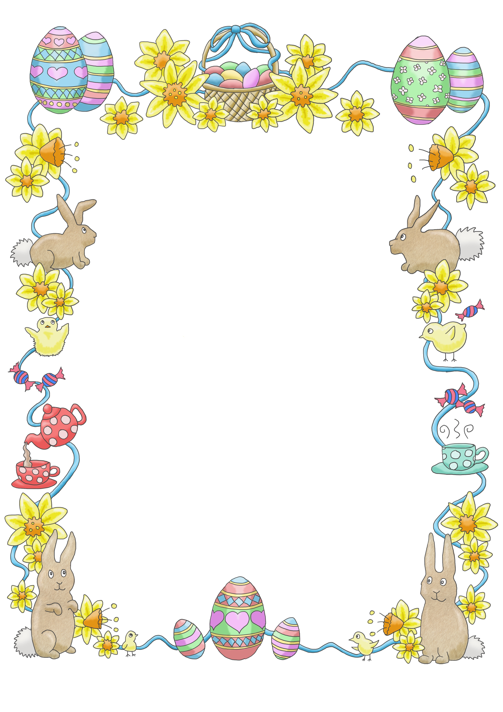 Free easter clipart borders. Cliparts download clip art