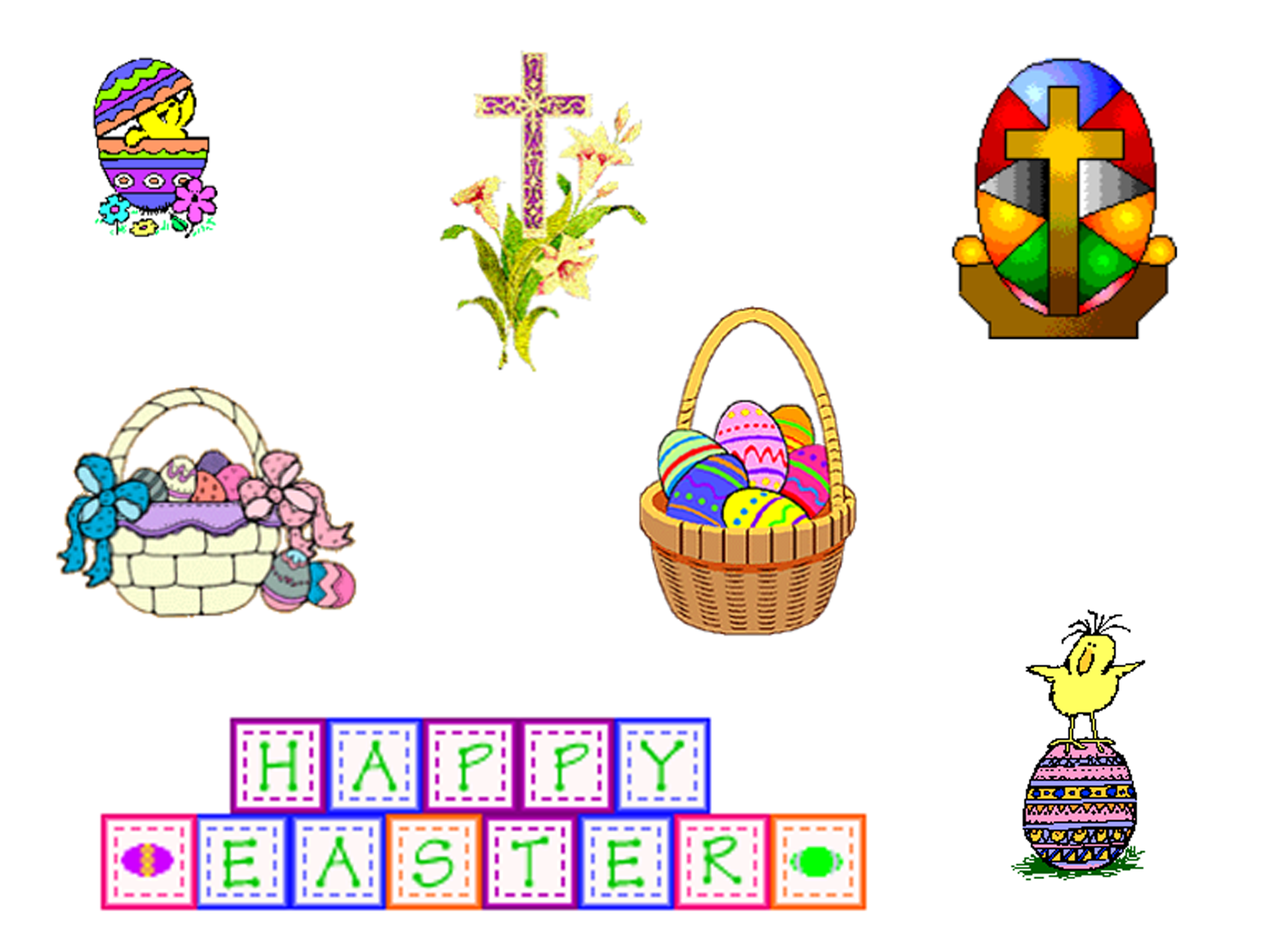 Free easter clipart images. A huge list of