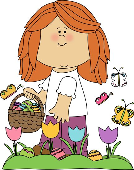 Free easter egg hunt clipart image library library Girl on Easter Egg Hunt | school clipart | Pinterest | Search ... image library library