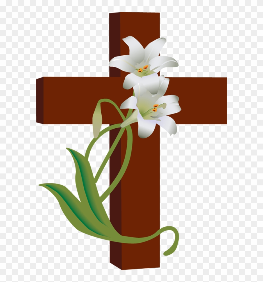 Free easter flower clipart clipart stock Free Easter Clipart Religious - Holy Cross With Flowers - Png ... clipart stock