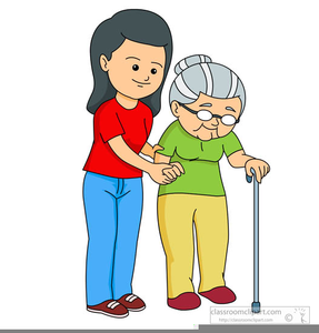 Free elderly clipart jpg black and white Helping Elderly Woman Clipart | Free Images at Clker.com - vector ... jpg black and white