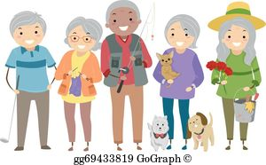 Free elderly clipart clipart transparent library Senior Citizens Clip Art - Royalty Free - GoGraph clipart transparent library