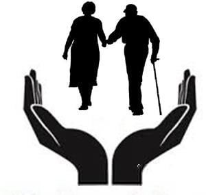 Free elderly clipart clipart black and white Caring For Elderly Clipart | Free Images at Clker.com - vector clip ... clipart black and white