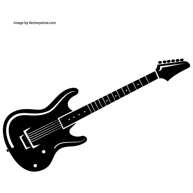 Free electric guitar black and white clipart clipart free Electric Guitar Clipart Black And White   Free download best ... clipart free