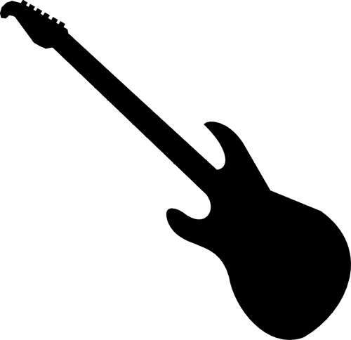 Free electric guitar black and white clipart jpg library Electric guitar clipart black and white free 3   Aqua Fest Poster ... jpg library