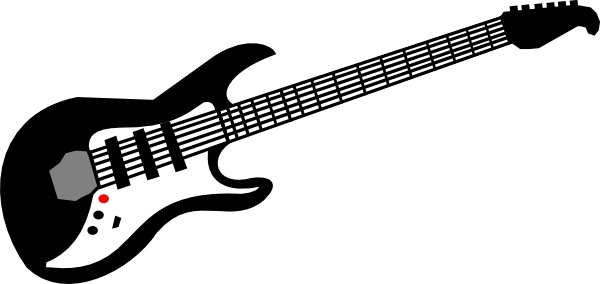 Free electric guitar black and white clipart graphic royalty free download Electric Guitar clip art Free vector in Open office drawing svg ... graphic royalty free download
