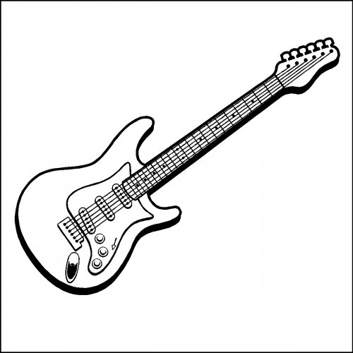 Free electric guitar black and white clipart image black and white Free Electric Guitar Art Download Clip On Best Black And White ... image black and white