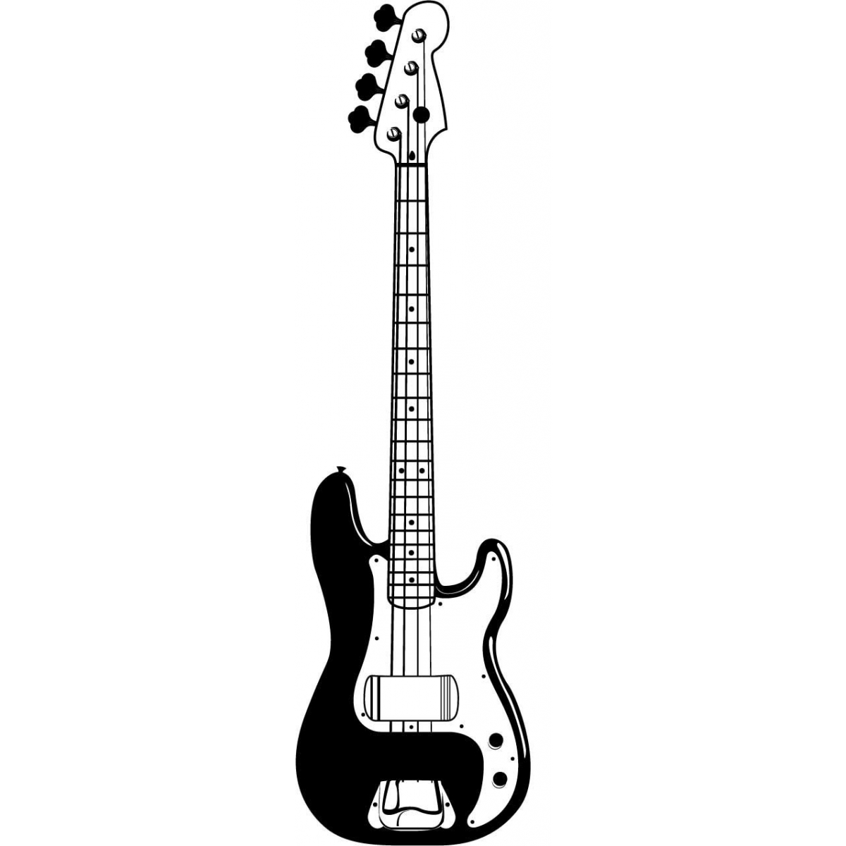 Free electric guitar black and white clipart graphic transparent Guitar black and white picture of an electric guitar free download ... graphic transparent