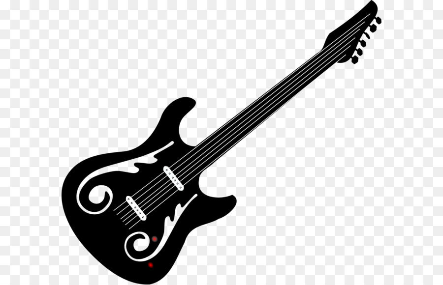 Free electric guitar black and white clipart svg freeuse library Download Free png Bass guitar Black and white Electric guitar Clip ... svg freeuse library