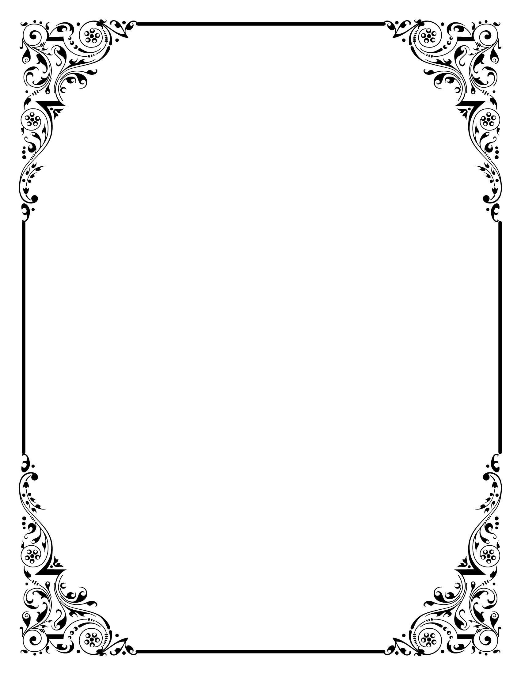 Free elegant border clipart image transparent Elegant border clipart free 7 » Clipart Portal image transparent