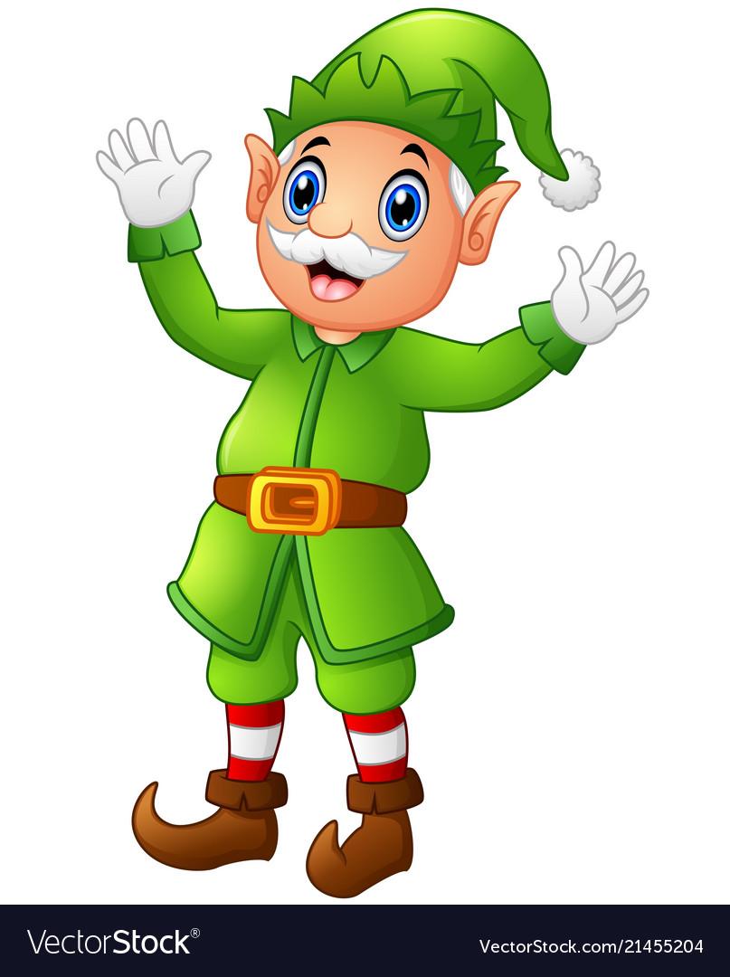 Free elf waving clipart jpg transparent Christmas old elf waving hands jpg transparent