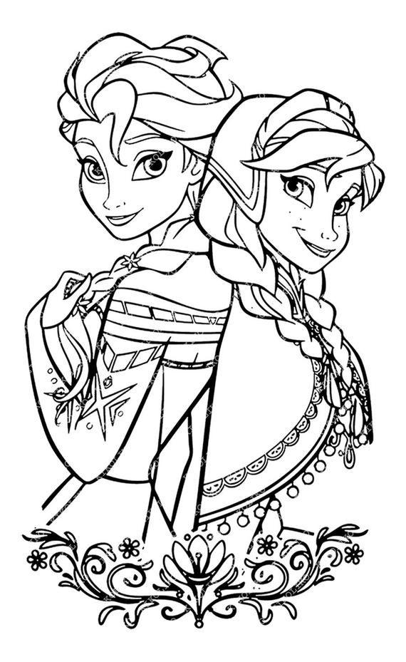 Free elsa clipart images black and white clip stock Elsa and Anna Svg Files - Disney Princess Elsa and Anna Clipart ... clip stock