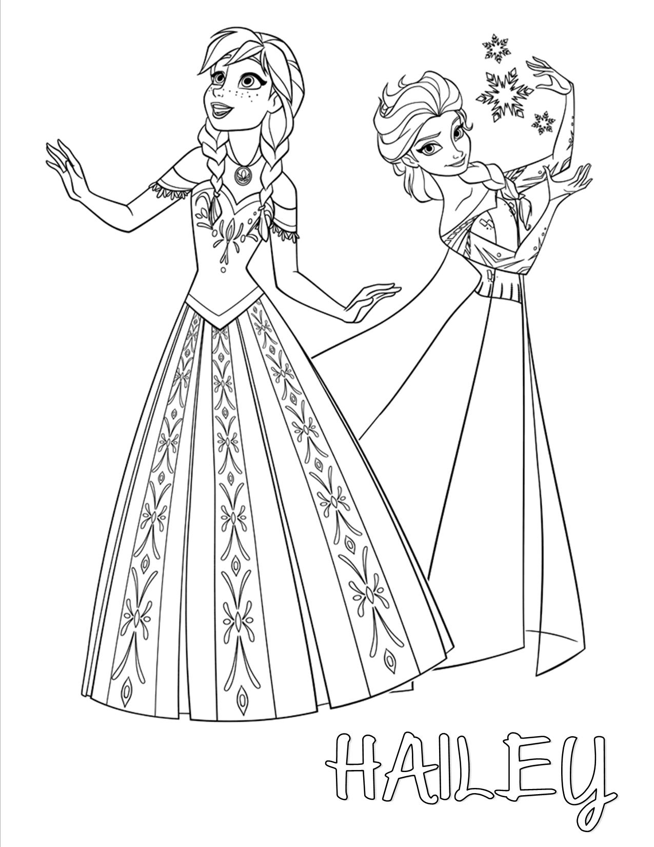 Free elsa clipart images black and white banner freeuse Elsa And Anna Sketch at PaintingValley.com | Explore collection of ... banner freeuse