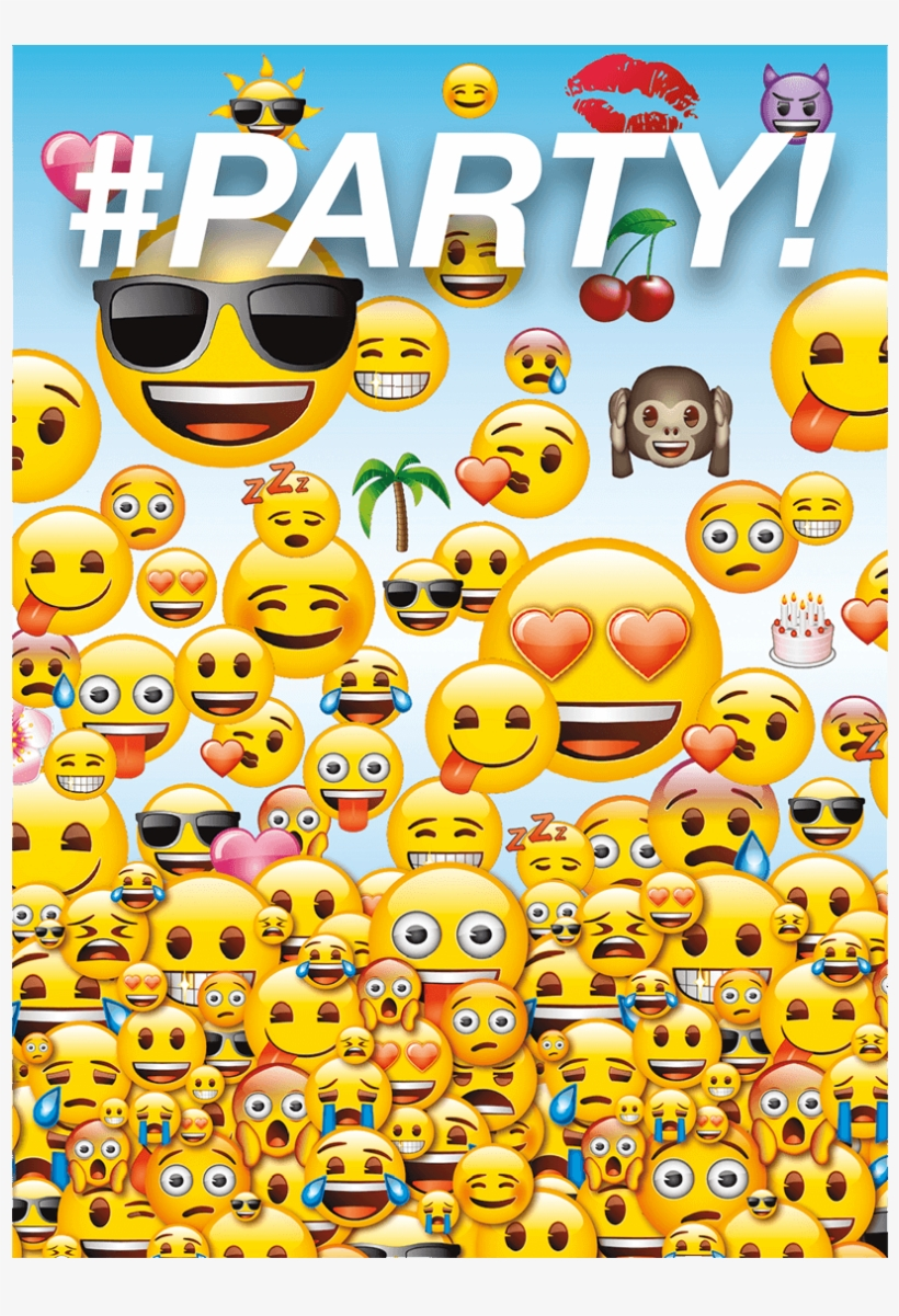 Free emoji clipart party clip royalty free stock Emoji Party Invite - Emoji Invitations - Free Transparent PNG ... clip royalty free stock