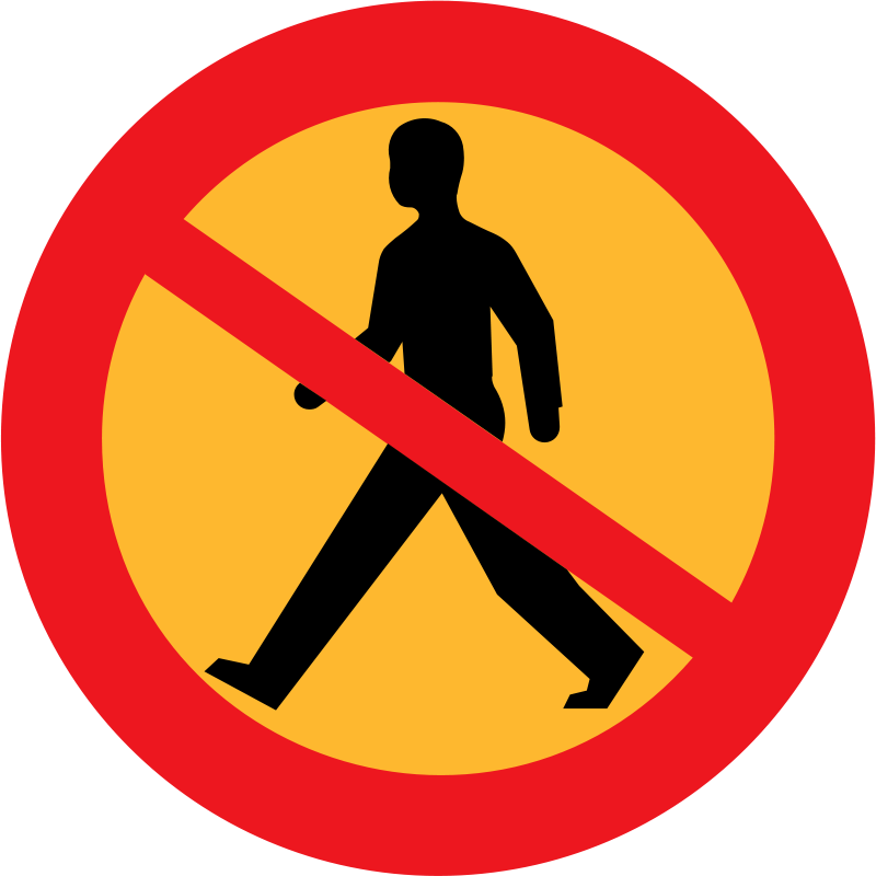 Free entry clipart banner freeuse download Free Clipart: No entry sign with a man | ryanlerch banner freeuse download