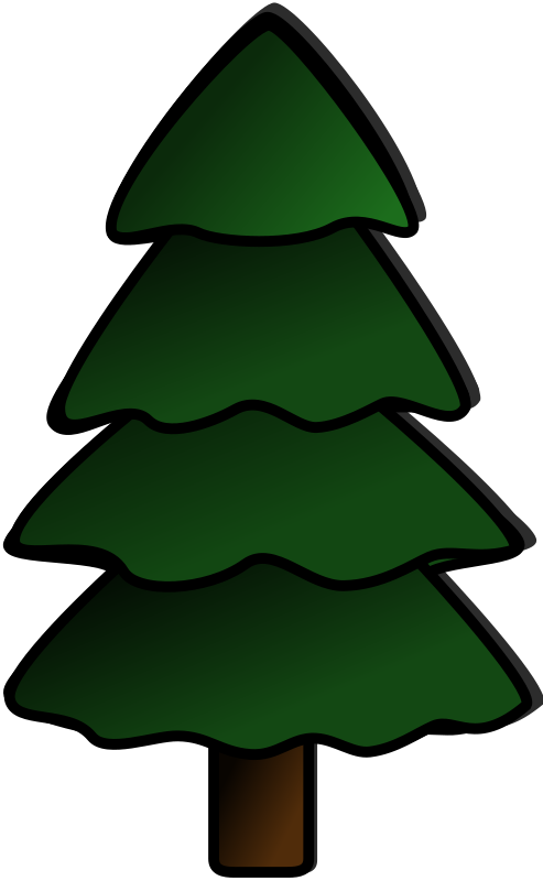 Free evergreen tree clipart svg stock Clipart - Tree svg stock