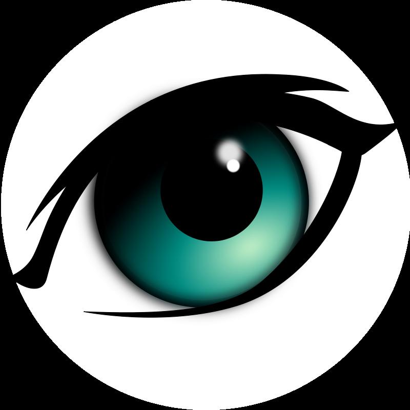 Eye clip art black. Free eyeball clipart images