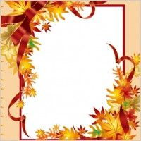 Clip art vector for. Free fall border clipart