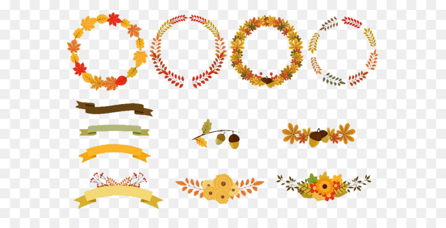 Free fall wreath clipart picture library download Floral Pattern Autumn Border png download - 765*539 - Free ... picture library download
